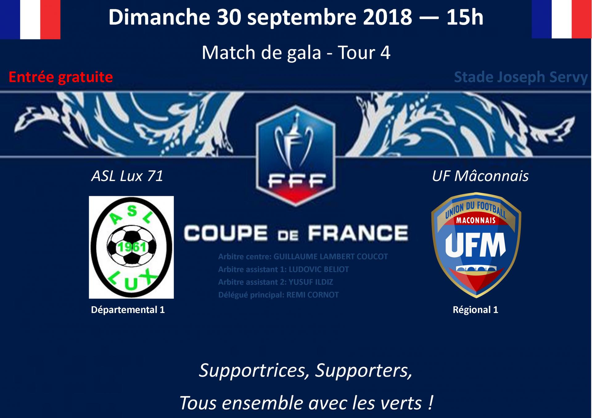 Match coupe de france lux macon uf